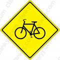 "Bicycle Crossing 16.5""x16.5"" Aluminum Never Rust Made in USA UV"
