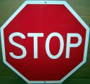 "STOP Sign - Red/White Aluminum Stop Sign 12""x12"" Will Never Rust"