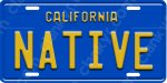 California Blue Novelty License Plate - NATIVE - Aluminum
