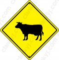 "Cattle Crossing 16.5""x16.5"" Aluminum Never Rust Made in USA UV"