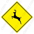 "Deer Crossing 16.5""x16.5"" Aluminum Never Rust Made in USA UV"