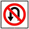 "NO U-TURNS Sign 12""x12"" Aluminum Made in USA UV Protected"
