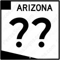 "Arizona Highway Sign - Any Hwy# on a 12""w x12""h Aluminum Sign"
