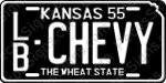 Kansas Novelty License Plate Choose Year, County & Name Aluminum