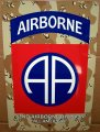 "82nd Airborne Division Patch on a 8""x12"" Alum Sign - Desert Camo"