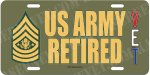 Sergeant Major of the Army US Army Retired Alum License Plate