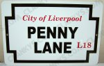 "The Beatles 'Penny Lane' Street Sign on a 8""x12"" Alum Sign"