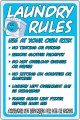 "LAUNDRY RULES on a 8"" x 12"" Aluminum Sign - Never Rusts!"