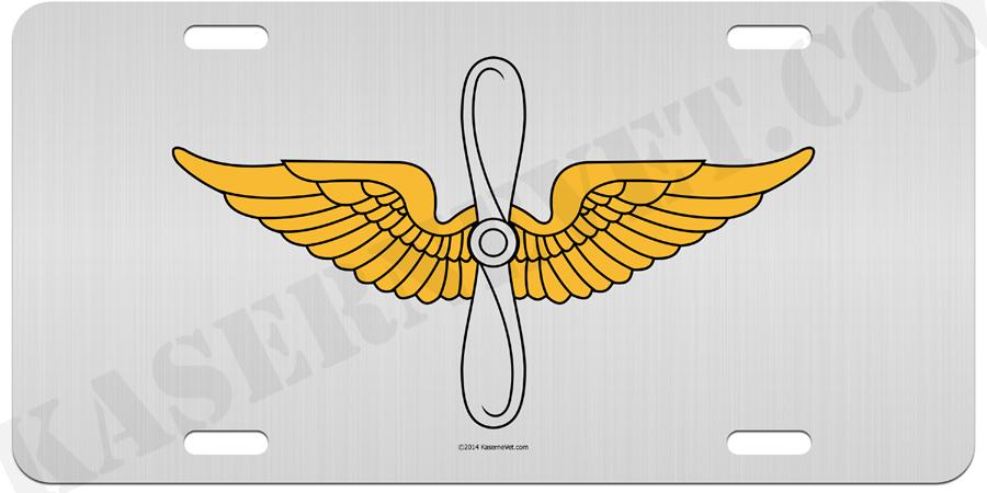 US Army 1st Aviation Brigade Aluminum License plate
